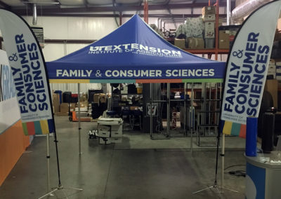 UT - Family Consumer Sciences - 10' Event Tent with 10'H Straight Flags  6-20-16